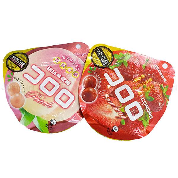 UHA味覺糖 酷露露Q糖 水果軟糖 水蜜桃 白桃 草莓 日本製造進口 * JustGirl *