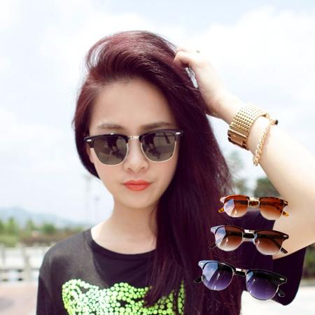 米釘半框金架墨鏡 時尚百搭 男女通用 太陽眼鏡【N201748】