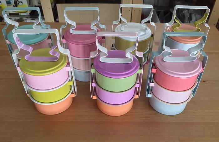 【This-This】泰國 馬卡龍色系琺瑯傳統便當/野餐盒 - 共8款