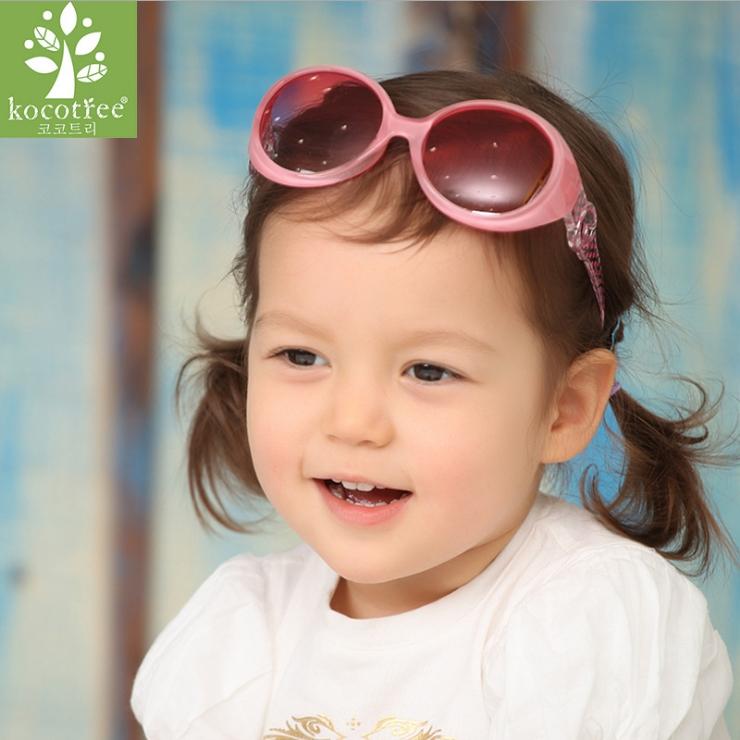 Kocotree◆新款糖果色粉嫩防紫外線護目兒童太陽眼鏡-粉色