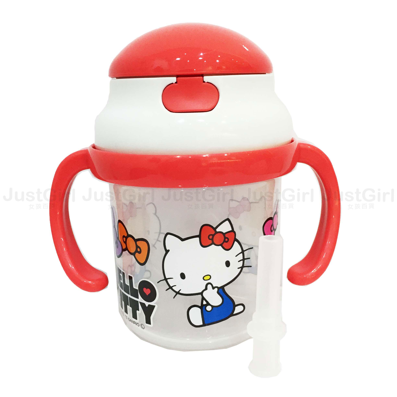 HELLO KITTY SKATER 學習杯 水壺 杯子 彈跳杯230ml 嬰幼兒 餐具 正版日本進口 JustGirl