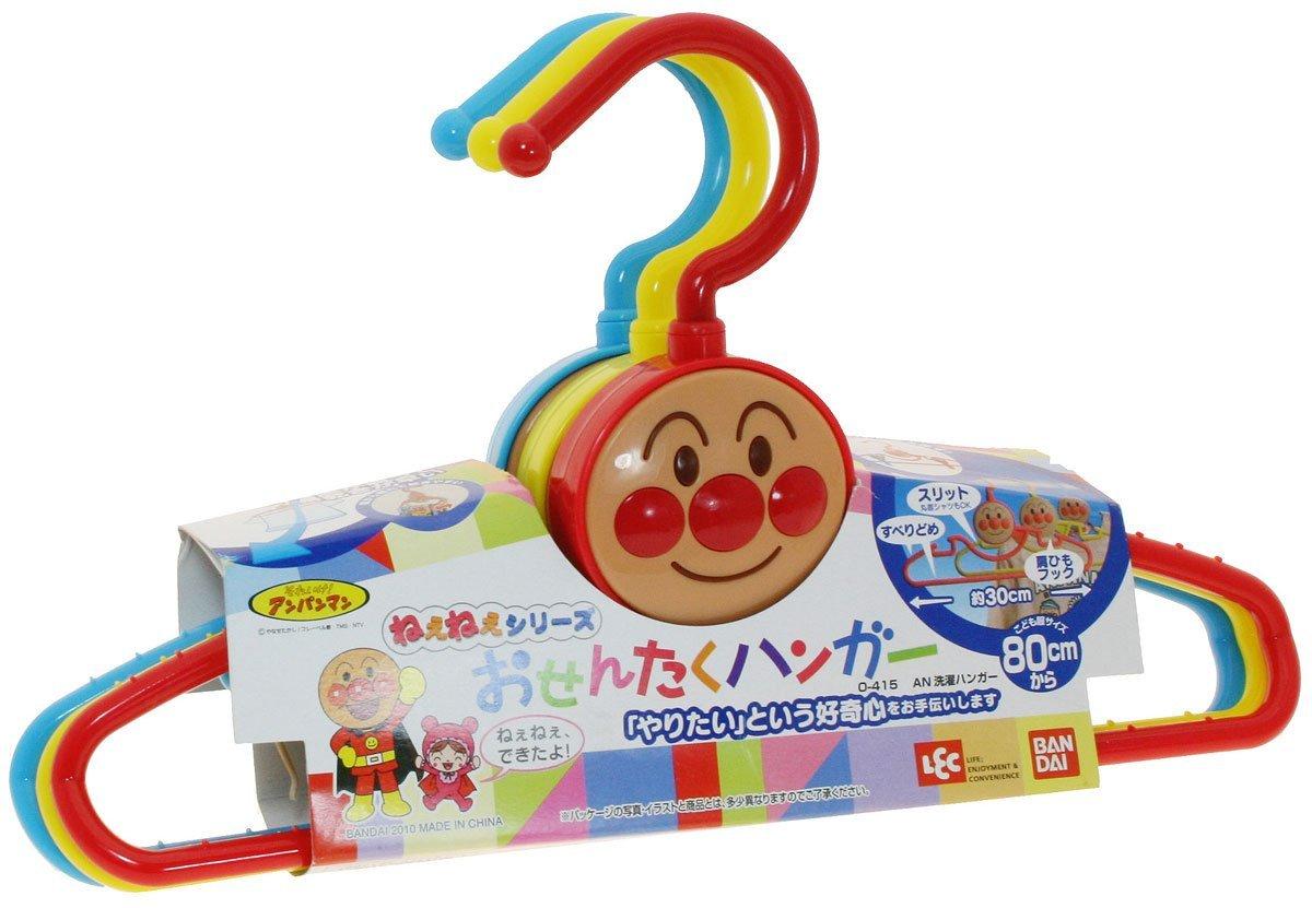 **雙子俏媽咪親子館**  [日本]  麵包超人 Anpanman 兒童衣架 可愛衣架 曬衣架(三支入)