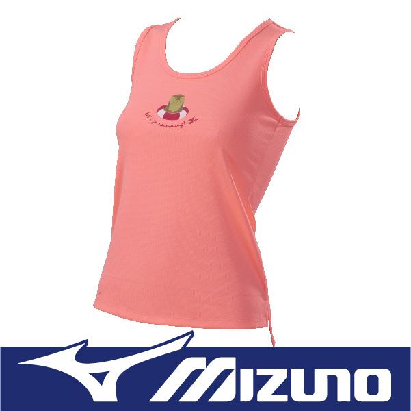 萬特戶外運動 MIZUNO美津濃 N2TA670351 女運動背心-水獺 吸汗快乾 抗紫外線UPF30 粉橘色
