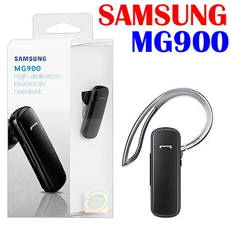 SAMSUNG 超薄時尚皮革藍牙單耳掛式耳機 MG900