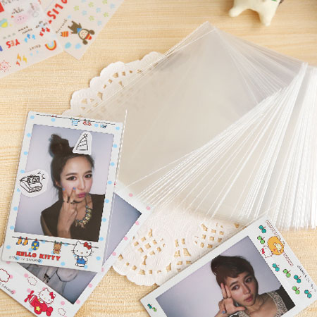 拍立得底片相片保護袋 相片透明保護套 100入 加厚高磅數 MIMI 7S 25 8 5【B511222】