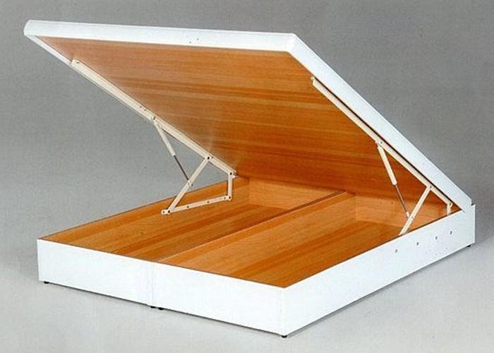 【尚品傢俱】637-13 白色雙人厚框5尺後掀/尾掀床(多安全裝置)~另有3.5尺、6尺、6尺~有6色可選