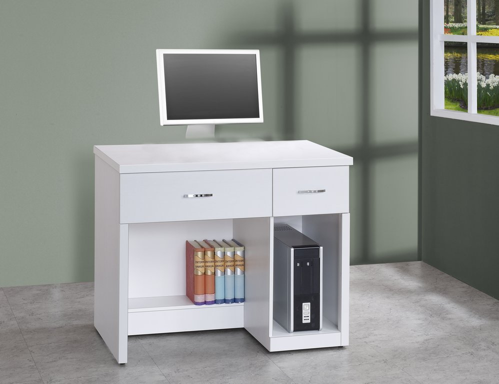 【石川家居】OU-743-9 典雅純白3.2尺電腦桌 (不含其他商品) 需搭配車趟