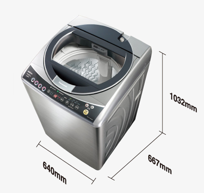 Panasonic國際牌 14公斤不鏽鋼變頻洗衣機 NA-V158ABS-S ★杰米家電☆