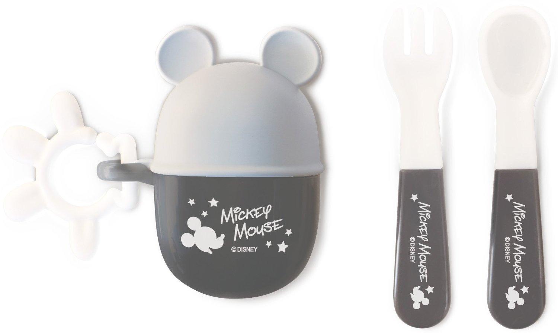 『日本代購品』 日本帶回 米奇餐具叉子+湯匙 套組 外出攜帶餐具 附同款掛勾 日本製