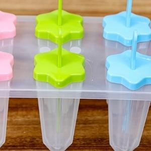 美麗大街【BF619E13】創意自製雪糕冰格模具冰淇淋冰棍模棒冰模 6個一組 梅花型