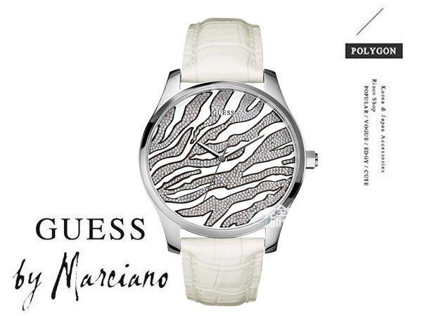 【完全計時】手錶館│美國時尚精品配件-GUESS閃亮名媛 氣質白 豹紋 GWW70020L1