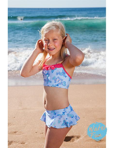 兒童泳衣★特價五折★澳洲鴨嘴獸 UPF 50+ 抗UV 兒童二件式泳裝(小女4-8歲)