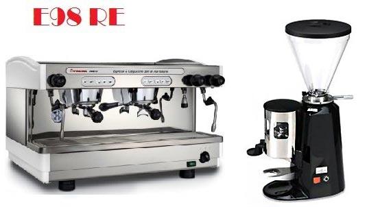 租購Faema半自動咖啡機- Faema E98雙孔營業用咖啡機+磨豆機 (每個月租購只要5000元)--【咖啡簡餐店適用的咖啡機】