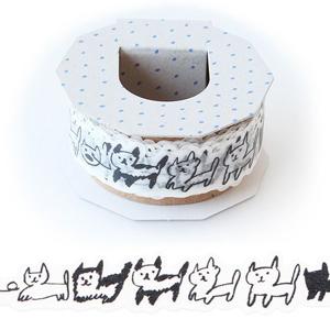 日本 Iroha Publish 紙膠帶 - 01黑白貓咪