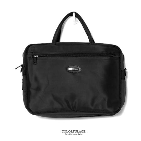 MIT手提包 型男品味精緻尼龍公事包.側背包 可放A4文件.小筆電 素面風格 柒彩年代【NZ461】斜背包
