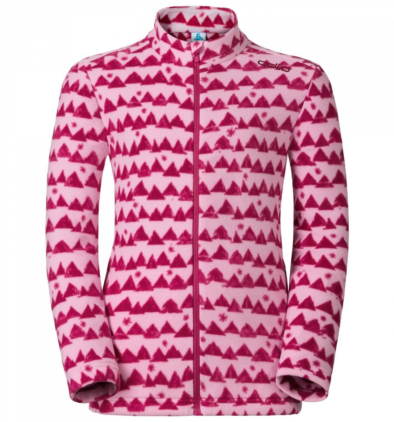 ├登山樂┤瑞士ODLO 兒童 夾克 立領保暖刷毛側拉鍊袋 戶外保暖 玫瑰粉 # 260829-70438