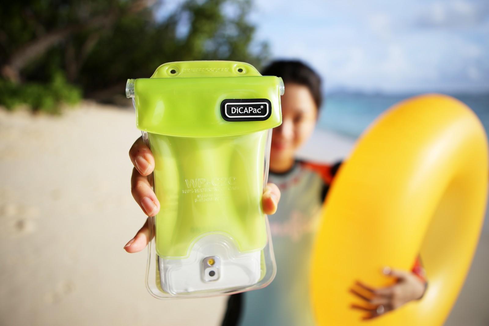 DiCAPac WP-C1s手機防水袋(5.1吋)-黃色