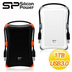 """〈商品編號:M20569686〉         Silicon Power A30 軍規防震HDD 1TB 2.5""""U3 外接式硬碟 黑 白 兩色"""