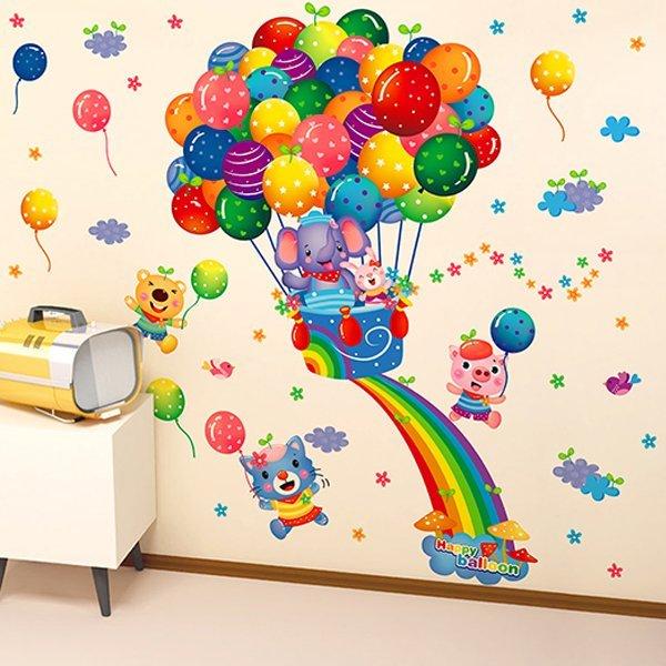 BO雜貨【YV0633】DIY時尚裝飾組合可移動壁貼 牆貼 壁貼 創意壁貼 氣球環遊記XL6043