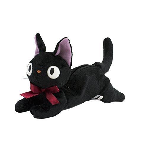 【真愛日本】16080400034造型趴姿娃娃筆袋-JIJI1筆袋    魔女宅急便 黑貓 奇奇貓   收納 筆袋
