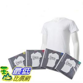 [COSCO代購 如果沒搶到鄭重道歉] Kirkland 科克蘭 男短袖V領T恤4件入 白色 _W935270-B