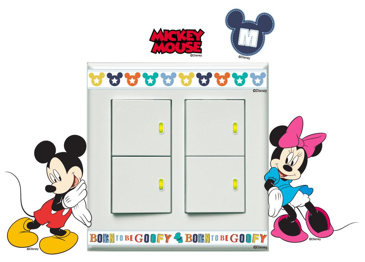 創意時尚無痕環保PVC壁貼牆貼-BID008 迪士尼隨意貼-米奇米妮,防水.不傷牆面可重覆撕貼.室內佈置好幫手