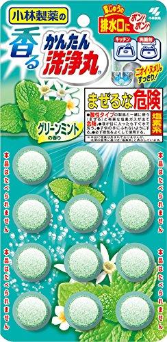 日本小林製藥 洗淨丸排水管清潔錠-薄荷( 5.5gX12錠)