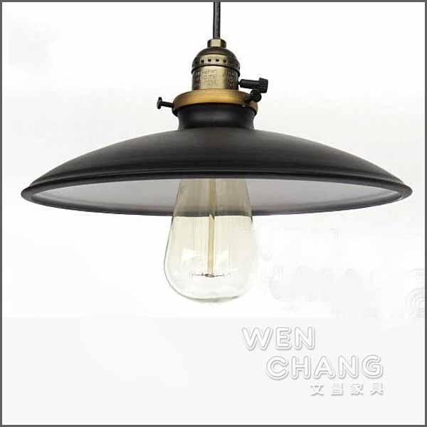 LOFT 工業復古風 小閣樓吊燈- 黑色 LC005 *文昌家具*