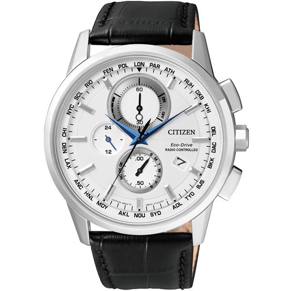 CITIZEN星辰AT8110-11A蔚藍科技電波光動能腕錶/白面43mm