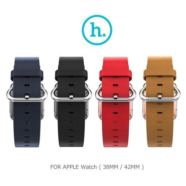 HOCO 優尚皮錶帶 - 帕戈款/Apple Watch(38mm/42mm)/錶帶/手錶帶/皮質錶帶【馬尼行動通訊】