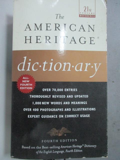 【書寶二手書T1/原文書_JAI】The American Heritage Dictionary: Fourth Edition_Random House