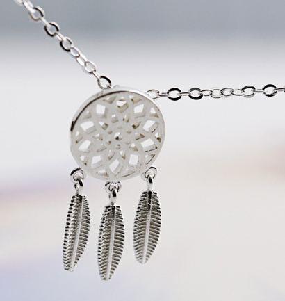 Tokyo Alice 925純銀補夢網項鍊,項鏈飾品首飾銀飾甜美鎖骨鏈(s0000097)