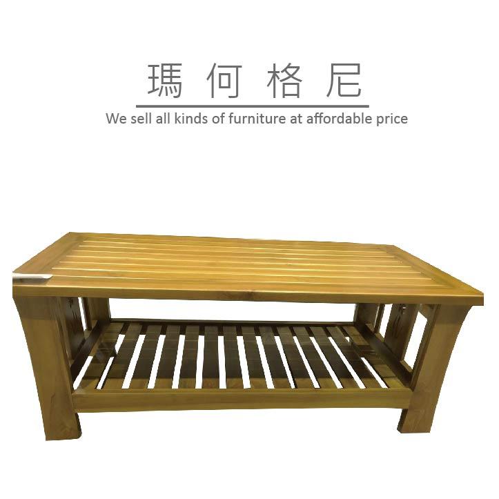 【瑪格何尼】幸運草 柚木 沙發 組椅 大茶几(SF06-812A)