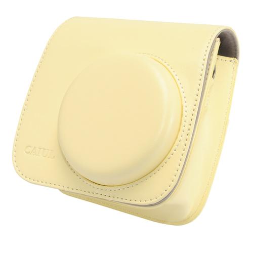 【拍立得配件】Fujifilm instax Mini8 皮質相機包 加蓋 米色 富士 Kamera 皮套 相機殼