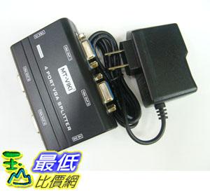 @[玉山最低比價網]   VGA Video Splitter 1對4 螢幕 250MHz 分接器/分配器/分頻器 (20589_QC01) 289