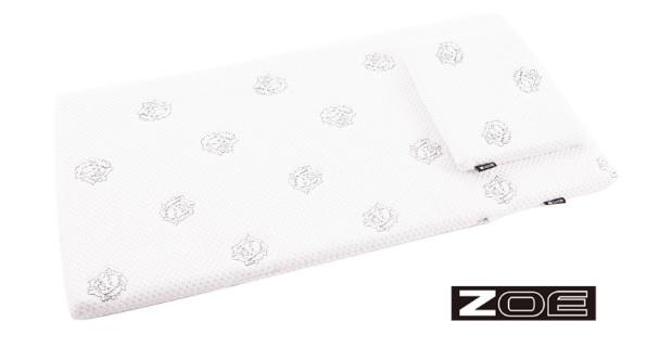 【淘氣寶寶】ZOE 智慧恆溫防螨抗菌薄墊+枕頭 70*140cm【適合過敏體質、異位性皮膚炎】【保證原廠公司貨】