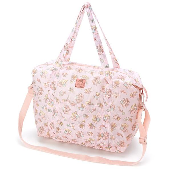 【真愛日本】16061600031行李收納袋M-TS熱氣球粉    三麗鷗家族 Kikilala 雙子星   旅行袋 收納袋