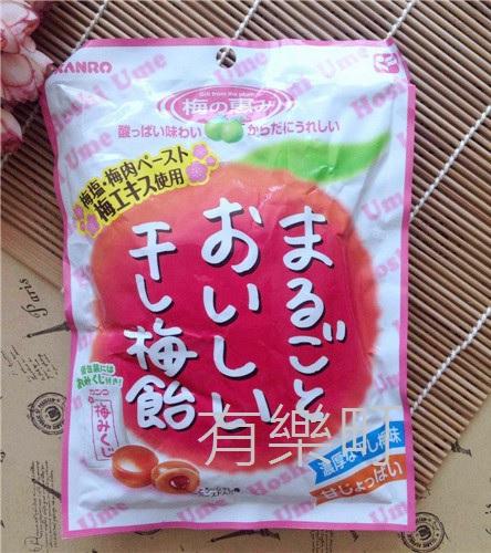 有樂町進口食品 日本 KANRO 甘樂甘梅飴 無籽梅乾 幸運籤梅子夾心糖 望梅止渴 梅子糖 上班這檔事 4901351014721