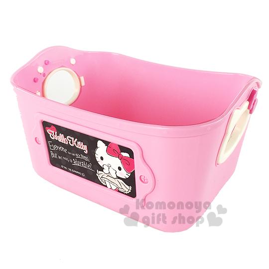 〔小禮堂〕Hello Kitty 日製收納盒《小.粉.站姿.腮紅.500ml》