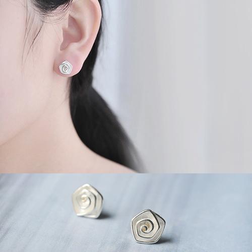 耳環 時尚螺旋紋耳飾【TSES621】 BOBI  03/24