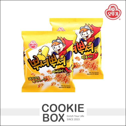 韓國 Ottogi 不倒翁 乾脆麵 點心麵 燒烤 炒年糕 科學麵 零食 零嘴 *餅乾盒子*