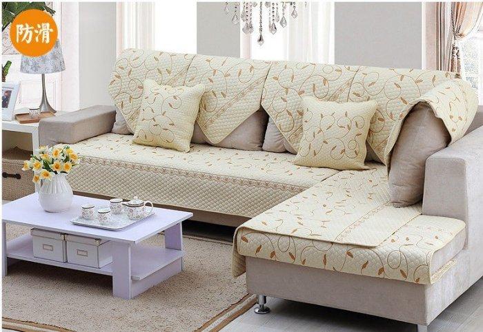夏季唯美 推薦SF0007-70*180 高級垂蘭繡花三人座沙發墊/ 坐墊/ 椅墊