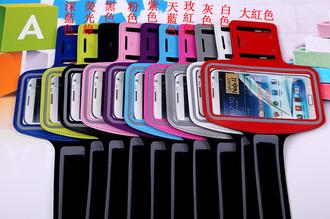 三星note3 N9000/ N7100/ I9220通用運動臂套 拉絲臂帶手機套 騎車跑步臂帶手機套運動手機臂套