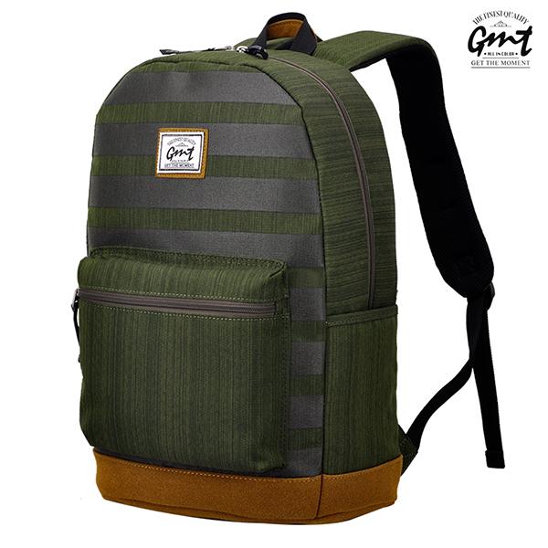 E&J【011004-03】免運費,GMT挪威潮流品牌 後背包 條紋綠 附15吋筆電夾層;登山包/雙肩背包/豬鼻