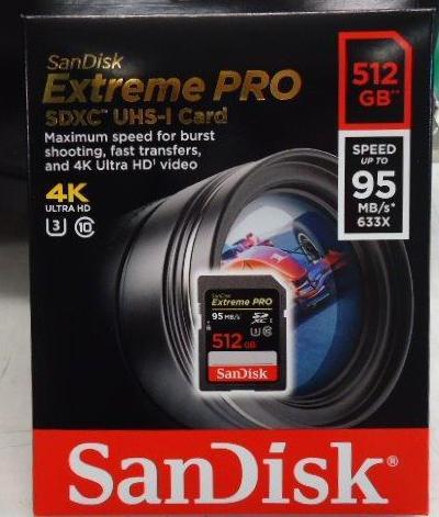 SanDisk Extreme PRO SDHC/SDXC UHS-I/U3 記憶卡   讀取/寫入速度高達 95/90MB/s,影片速度 C10、U3