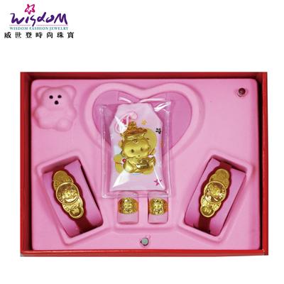 彌月黃金禮盒 3分 國王寶貝禮盒送禮推薦款