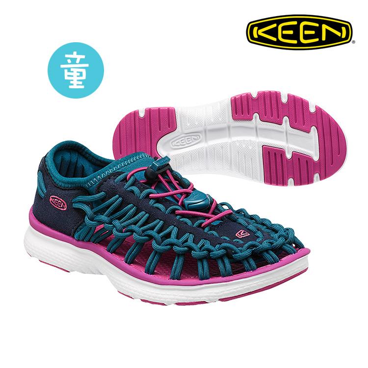 KEEN 織帶涼鞋Uneek O2 1015482《童款》/ 城市綠洲 (編繩結構,輕量,戶外休閒鞋,運動涼鞋)