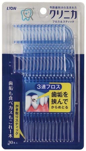 日本 LION獅王 3弦潔勁牙線棒 30支入 (音樂影片購)