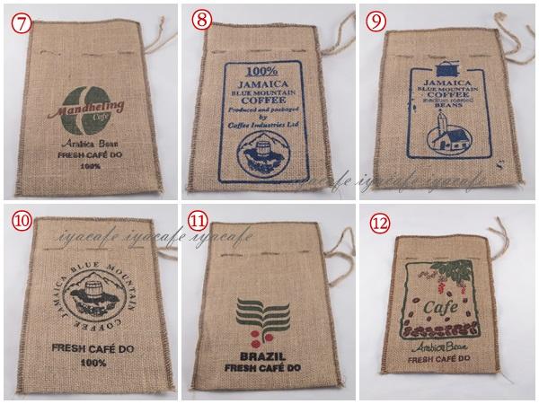 《愛鴨咖啡》咖啡麻布袋 收納袋 束口袋 1磅裝