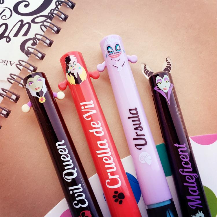 PGS7 日本迪士尼系列商品 -迪士尼 反派 角色 造型 雙色原子筆 原子筆 雙色筆 筆